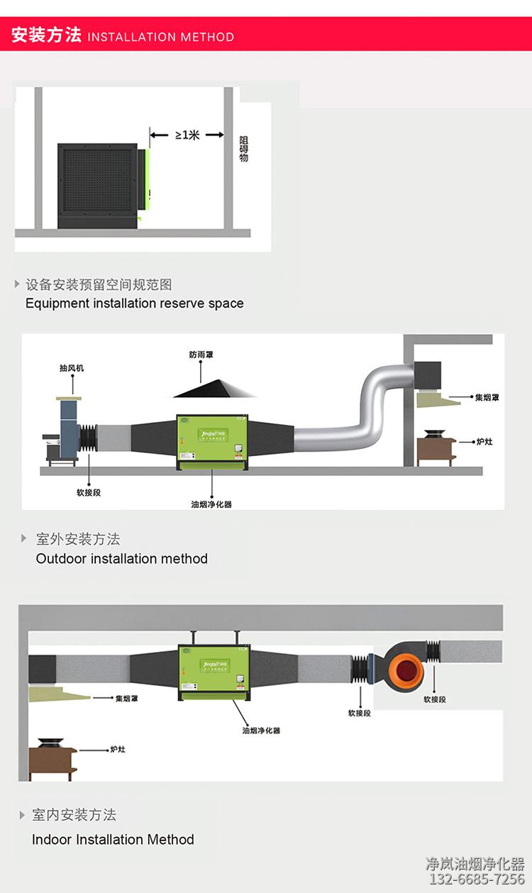 油烟净化器安装步骤